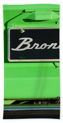 1977 Ford Bronco Taillight Beach Towel