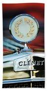 1979 Clenet Hood Ornament -176c Beach Towel