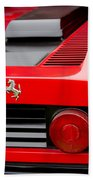 1979 Ferrari Taillight Emblem -0378c Beach Towel