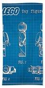1979 Lego Minifigure Toy Patent Art 1 Beach Towel