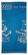 1979 Lego Minifigure Toy Patent Art 3 Beach Towel