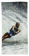 1980s Man Waterskiing Making Fan Beach Sheet