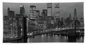 1980s New York City Lower Manhattan Beach Sheet
