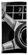 1982 Lamborghini Countach 5000s Steering Wheel Emblem -1549bw Beach Towel