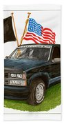 1988 Chevrolet M I A Tribute Beach Towel by Jack Pumphrey