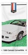 1989 Camaro Convertible Beach Towel