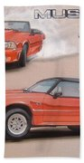 1991 Ford Mustang Beach Towel