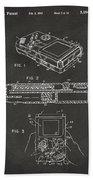 1993 Nintendo Game Boy Patent Artwork - Gray Beach Towel