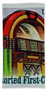 1995 Jukebox Stamp Beach Towel