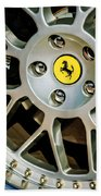 1997 Ferrari F 355 Spider Wheel Emblem -125c Beach Towel