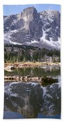 Cirque Of The Towers In Lonesome Lake 4 Beach Towel