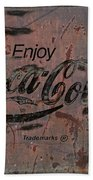 Coca Cola Sign Grungy Retro Style Beach Towel