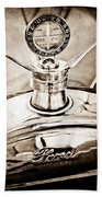 1923 Ford Model T Hood Ornament Beach Towel by Jill Reger