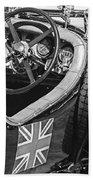 1931 Bentley 4.5 Liter Supercharged Le Mans Steering Wheel -1255bw Beach Towel