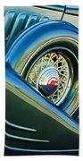 1933 Pontiac Spare Tire -0431c Beach Towel
