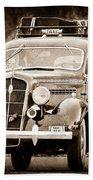 1935 Plymouth Taxi Cab Beach Towel