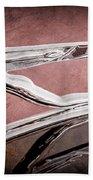 1936 Auburn Speedster Replica Hood Ornament Beach Towel