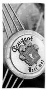 1937 Peugeot 402 Darl'mat Legere Special Sport Roadster Recreation Steering Wheel Emblem Beach Towel by Jill Reger