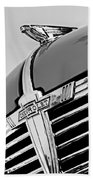 1938 Chevrolet Coupe Hood Ornament -0216bw Beach Towel