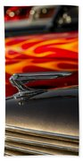 1939 Graham Coupe Hood Ornament Beach Towel by Ron Pate