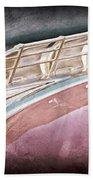 1949 Plymouth Hood Ornament Beach Towel by Jill Reger