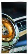 1949 Plymouth P-18 Special Deluxe Convertible Steering Wheel Emblem Beach Towel
