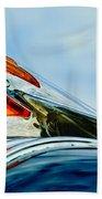 1950 Pontiac Hood Ornament Beach Towel by Jill Reger