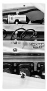 1955 Jaguar Engine Beach Towel