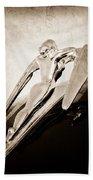 1960 Nash Metropolitan Hood Ornament Beach Towel