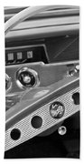 1961 Chevrolet Impala Ss Steering Wheel Emblem Beach Towel
