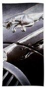1964 Jaguar Mk2 Saloon Hood Ornament And Emblem Beach Towel