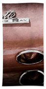 1965 Chevrolet Corvette Taillight Emblem Beach Towel