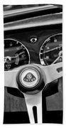 1965 Lotus Elan S2 Steering Wheel Emblem Beach Towel by Jill Reger