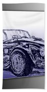 1965 Shelby Ac Cobra Beach Towel