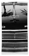 1966 Ford Galaxie 500 Convertible Grille Emblem - Hood Ornament Beach Towel