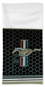 1966 Shelby Gt 350 Grille Emblem Beach Towel