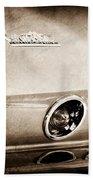 1967 Chevrolet Corvette Taillight Beach Towel