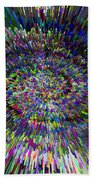 3 D Dimensional Art Abstract Beach Towel