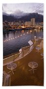 A Night View Of The Victoria And Alfred Beach Towel