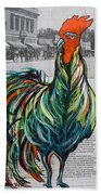 A Well Read Rooster Beach Towel