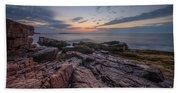 Acadia Rocky Sunrise Beach Towel