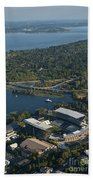 Aerial View Of The New Husky Stadium Beach Towel