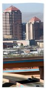 Albuquerque Skyline Beach Towel