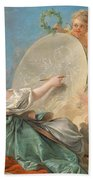 Allegory Of Painting Beach Sheet