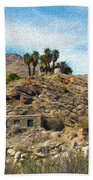 Andreas Canyon Dreams Beach Towel