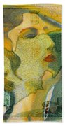 Aphrodite And Ancient Cyprus Map Beach Towel