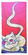 Art Cat Beach Towel