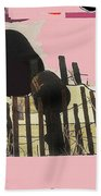 Art Homage Andrew Wyeth Bucket Fence Collage Near Aberdeen South Dakota 1965-2012 Beach Towel