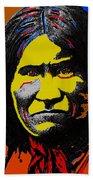 Art Homage Andy Warhol Geronimo 1887-2009 Beach Towel