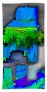 Atlanta Map And Skyline Watercolor Beach Towel